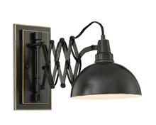 Lite Source Inc. LS-16280 - Wall Lamp, Dark Bronze/metal, E27 Type A 60w