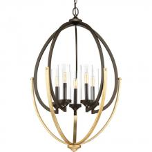 Progress P400025-020 - 5-Lt. Antique Bronze Chandelier