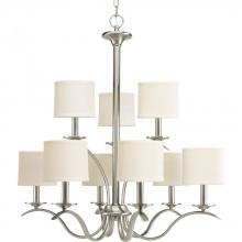 Progress P4638-09 - 9-Lt. Brushed Nickel Chandelier
