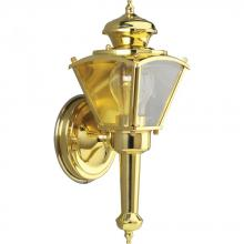 Progress P5845-10 - One Light Polished Brass Wall Lantern
