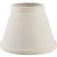Progress P8632-01 - Creme Brussels linen shade accessory with uno-fitter