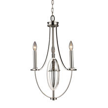 ELK Lighting 10120/3 - Dione 3 Light Chandelier In Polished Nickel